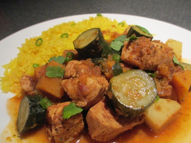 Middle Eastern Chicken with Saffron Rice