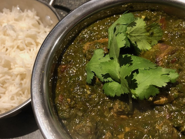 Curried Lamb & Spinach